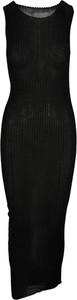 Czarna sukienka Maison Margiela maxi z okrągłym dekoltem