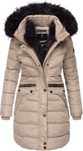 Brązowy płaszcz Navahoo z plaru w stylu casual