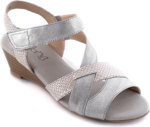497dcef2 Sandały Calzado na średnim obcasie na rzepy w stylu casual