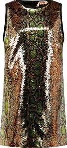 Sukienka N21 bez rękawów prosta z jedwabiu