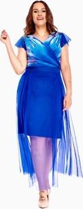 Sukienka N/A dla puszystych z krótkim rękawem