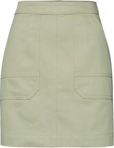 Zielona spódnica EDITED mini z bawełny