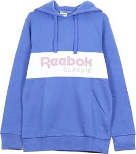 Niebieska bluza Reebok w młodzieżowym stylu z bawełny