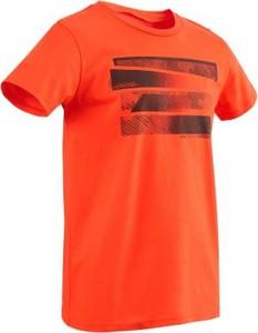 Pomarańczowa koszulka dziecięca Domyos z bawełny