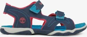 Niebieskie buty dziecięce letnie Timberland na rzepy