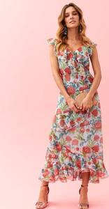 aa15c26108 Sukienka Top Secret w stylu casual z dekoltem w kształcie litery v