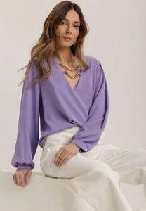 Fioletowa bluzka Renee z długim rękawem w stylu casual
