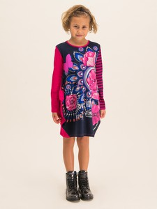 Sukienka Desigual mini z okrągłym dekoltem w stylu casual
