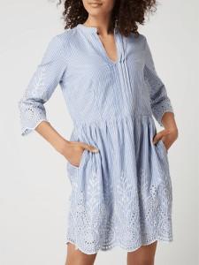 Granatowa sukienka Jake*s Collection z kołnierzykiem koszulowa z długim rękawem