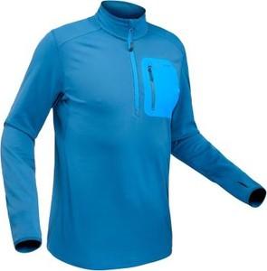 Niebieska koszulka z długim rękawem Quechua