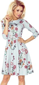 Sukienka NUMOCO z okrągłym dekoltem rozkloszowana midi