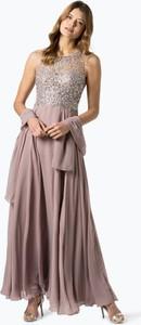 Sukienka Unique w stylu glamour z okrągłym dekoltem bez rękawów
