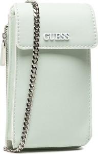 Zielona torebka Guess na ramię średnia