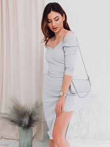 Sukienka Edoti z długim rękawem mini
