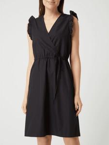 Sukienka Selected Femme z bawełny mini z dekoltem w kształcie litery v