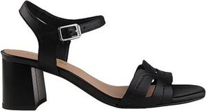 Czarne sandały Lasocki z klamrami ze skóry