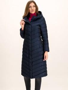 Granatowy płaszcz Geox w stylu casual