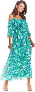 Sukienka Awama maxi z długim rękawem