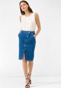 Niebieska spódnica ORSAY z jeansu midi