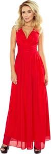 Czerwona sukienka NUMOCO z szyfonu