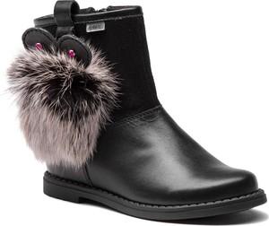 95bb83f89ad74 Czarne buty dziecięce zimowe Bartek ze skóry