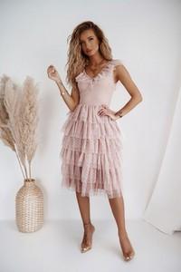Sukienka Shopaholics Dream z tiulu rozkloszowana bez rękawów