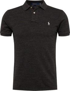 Czarna koszulka polo POLO RALPH LAUREN w stylu casual z krótkim rękawem