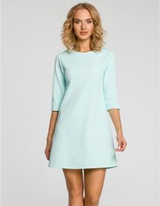 Sukienka MOE trapezowa mini z długim rękawem