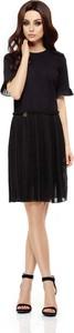 Czarna sukienka Lemoniade z okrągłym dekoltem