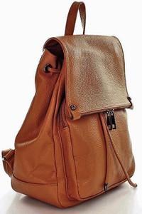 523f4a62c9e7 Brązowy plecak Vera Pelle ze skóry