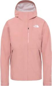 Różowa kurtka The North Face krótka w sportowym stylu