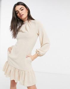 Sukienka Closet z żakardu z długim rękawem w stylu casual