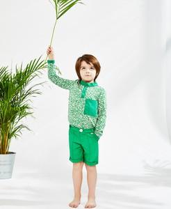 Zielone spodenki dziecięce Banana Kids z dzianiny