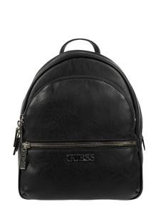 Czarny plecak Guess ze skóry ekologicznej