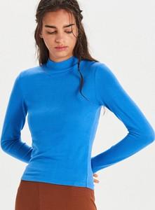 Niebieska bluzka Cropp z długim rękawem