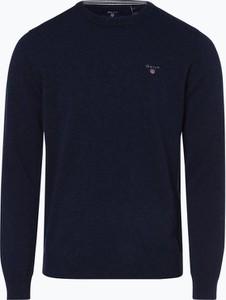 Niebieski sweter Gant z wełny w stylu casual
