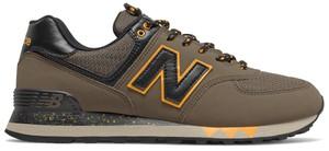 Buty sportowe New Balance 574 sznurowane z nubuku