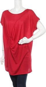 Czerwona tunika Monnari z krótkim rękawem w stylu casual