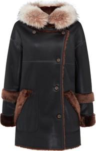 Czarna kurtka Urbancode London z zamszu długa