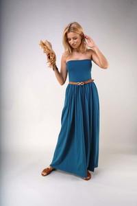 Sukienka Nommo z bawełny bez rękawów maxi
