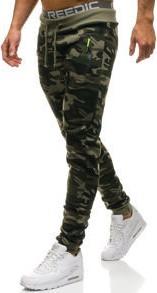 Zielone spodnie sportowe denley