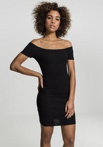 Czarna sukienka Urban Classics z odkrytymi ramionami mini