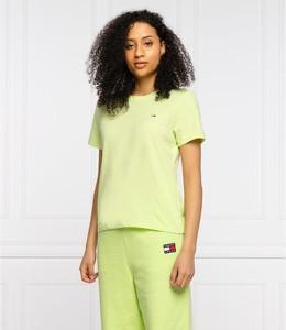 T-shirt Tommy Jeans w stylu casual z okrągłym dekoltem z krótkim rękawem