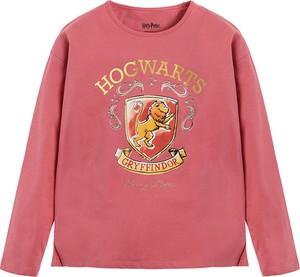 Różowa bluzka dziecięca Cool Club z długim rękawem z bawełny