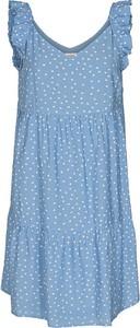 Niebieska sukienka Numph mini na ramiączkach