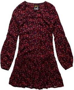 Sukienka Superdry midi z długim rękawem w stylu retro