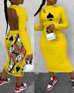 Sukienka Kendallme maxi z długim rękawem z okrągłym dekoltem