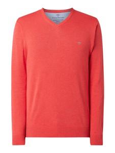 Różowy sweter Fynch Hatton z bawełny