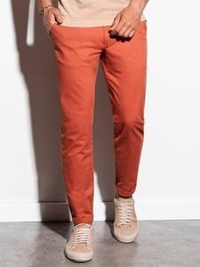 Pomarańczowe spodnie Ombre w stylu casual