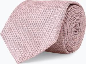 Różowy krawat Joop! z jedwabiu
